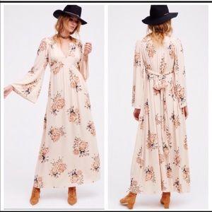 Free People Wild Laurel Blush Floral Maxi Dress